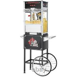 12 oz. Black Top Star Commercial Quality Popcorn Machine with Cart