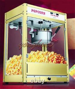 1.6kw Automatic Electric Popcorn Machine Commercial Popcorn Maker 220V New