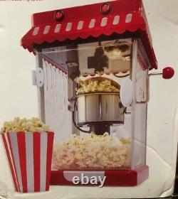 300W RED Tabletop Mini Electric Popcorn Maker Home Hot Air Party Snack Machine
