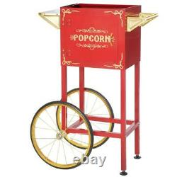 4 oz. 8 oz. Red Popcorn Machine Replacement Stand / Cart