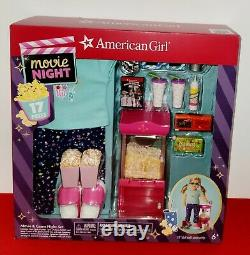 American Girl Movie Night Game Set Popcorn Machine Truly Me For 18 Doll New