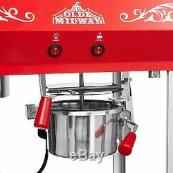 Bar Style Popcorn Machine Maker Popper with 6-Ounce Kettle Red