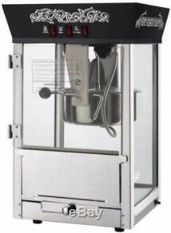 Black Matinee Movie Commercial Quality 8-Ounce Antique Popcorn Machine