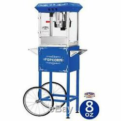 Blue 6098 8-oz Foundation Popcorn Machine and Cart Floral Modern & Contemporary