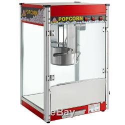 Carnival King PM50R Royalty Series 12 oz. Red Commercial Popcorn Machine