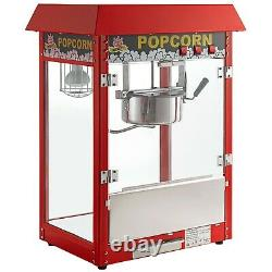 Carnival King Royalty Series 8 oz. Red Commercial Popcorn Machine / Popper