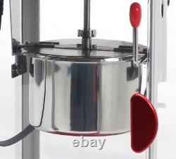 Classic Popcorn Maker Tabletop Kettle Hot Oil Popper Machine with Warming Light