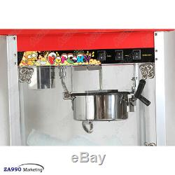 Commercial 1300W Electric Popcorn Maker Machine Automatic Popper