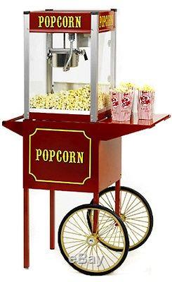 Commercial 6 oz Popcorn Machine Theater Popper Maker Paragon TP-6 withcart