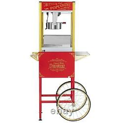 Commercial 8oz Popcorn Machine Theater Popper Maker Paragon with Cart Scoop Red