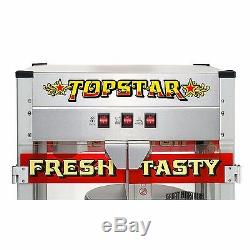 Commercial Bar Movie Theater Vintage Style Red Hot Popcorn Popper Machine Maker