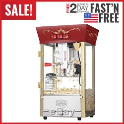 Commercial Popcorn Popper Maker Machine Electric 860W 110V with 8oz Kettle