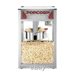 Countertop Popcorn Machine Commercial 16 oz. Majestic Silver Stainless Steel Pop