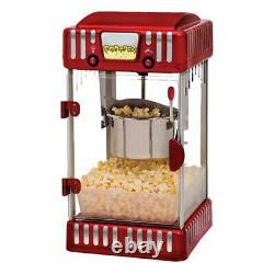 Electric 4.5L Classic Popcorn Maker/Machine 44cm withServing Tray/Measuring Cup