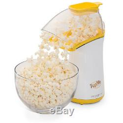 Electric Popcorn Maker Healthy Machine No Oil Needed Hot Air Popper Yellow