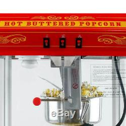 FunTime 8oz Red Bar Table Top Popcorn Popper Maker Machine FT825CR