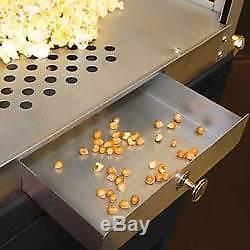 Funtime 8 Oz 61 Red Movie Style Hot Oil Popper Popcorn Bar Machine Maker Cart