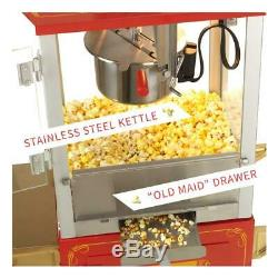 Funtime Countertop Popcorn Machine 4 oz. Hot Oil Kettle Built-in Heating Deck