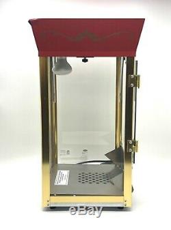 GREAT NORTHERN Popcorn Red Gold Matinee Popcorn Popper Machine Cart 8 Ounce 6087