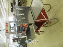 Gold Medal Hot Dog Grill withBun Tray & Popcorn Machine with 6 Cart
