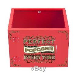 Great Northern 10 oz. Perfect Popper Popcorn Machine with Cart Red