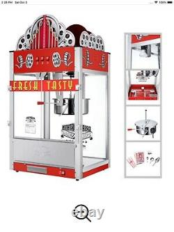 Great Northern 20 Oz Red Movie Theater Marquee Popcorn Machine, Pre-Owned