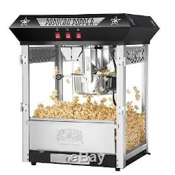 Great Northern Black Antique Style Popcorn Popper Machine withCart, 8 Ounce