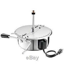 Great Northern Black Good Time 8oz Popcorn Popper Machine with Cart, 8 Ounce