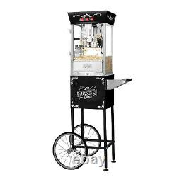 Great Northern Matinee Antique Style Popcorn Popper Machine withCart, 8 Ounce