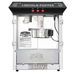 Great Northern Popcorn Black Bar Style Lincoln 8 Ounce Antique Machine Bar