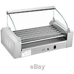 Great Northern Popcorn Commercial 18 Hot Dog 7 Roller Grilling Machine With Cover