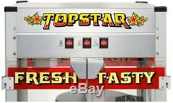 Great Northern Popcorn Machine Top Star 12 oz. Stainless Steel Etched Glass New