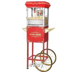 Great Northern Popcorn Red 6 oz. Ounce Foundation Vintage Style Popcorn Machine