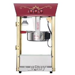 Great Northern Popcorn Red Antique Style Popcorn Popper Machine, 8 Ounce