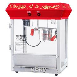 Great Northern Popcorn Red Foundation Popcorn Popper Machine Cart, 4 Ounce