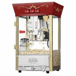 Great Northern Popcorn Red Matinee Style 8 oz. Ounce Antique Popcorn Machine