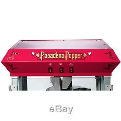 Great Northern Red Antique Style 8 oz Popcorn Popper Machine withCart, 8 Ounce
