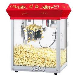 Great Northern Red Antique Style Popcorn Popper Machine 6 Ounce Countertop