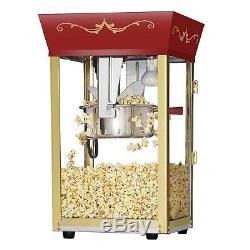 Great Northern Red Antique Style Popcorn Popper Machine, 8 Ounce Counter Top