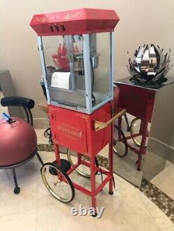 Great Northern Red Popcorn machine and Cart -excellent condition
