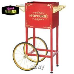 Great Northern Replacement Stand Cart for Popcorn Popper Machine 4oz/8oz Red New