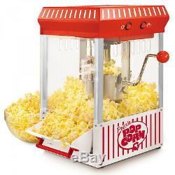 HOME VINTAGE POPCORN CART MACHINE Popper Maker Bucket Red Stand Movie Room 45