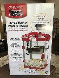 Hot Oil Popcorn Popper Machine Movie Theater Style (Never Used or Opened)