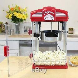 Hot Oil Popcorn Popper Machine Movie Theater Style With Nonstick Kettle 4Quarts