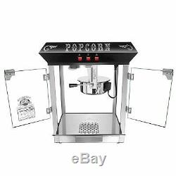 Hot and Fresh Countertop Style Popcorn Popper Machine- (8 oz, Black) with Defect