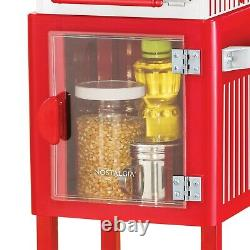 Large 2.5 oz Popcorn and Concession Maker Machine 45 Cart 10 Cups/Batch Red NEW