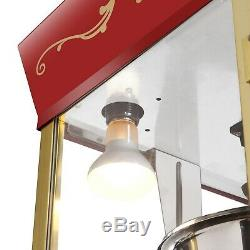 Matinee Style Popcorn Popper and Cart Concessions Commercial Machine 8 Ounce Oz