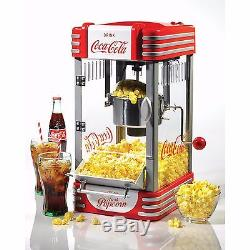 NEW 10-Cup Electric Popcorn-Maker Theater CocaCola Kitchen Machine Kettle Popper