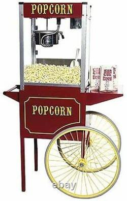 New Paragon Theater Pop 6 Ounce Popcorn Popper Machine & Cart Combo- Made In USA
