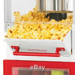 Nostalgia Electrics Popcorn Cart Machine Popper Maker Vintage Red Stand